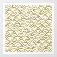 Gold Scallop Art Print