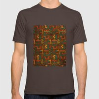African Mens Fitted Tee Brown SMALL