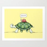 The Snail & The Turtle Art Print