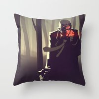 Sin City Woods Throw Pillow