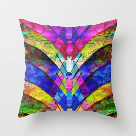 The Butterfly Collector's Dream Throw Pillow