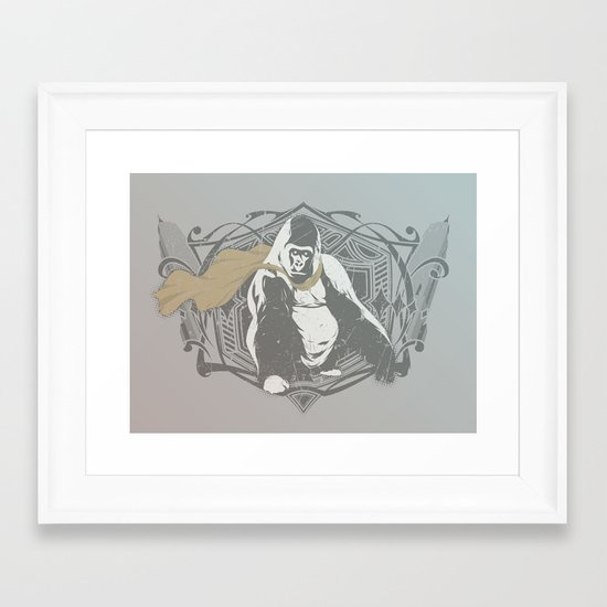 Fearless Creature: Grillz Framed Art Print