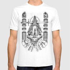 Vagamid - Lord of Fish SMALL White Mens Fitted Tee