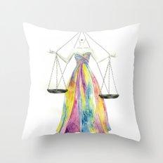 Zodiac - Libra Throw Pillow