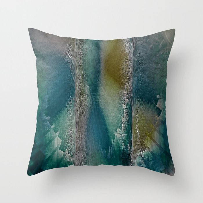 Industrial Wings in Teal Throw Pillow by Jen Warmuth Art And Design  Society6