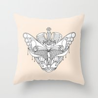 Colouring Canvas - The Q… Throw Pillow