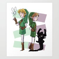 The Fairy And The Imp Art Print