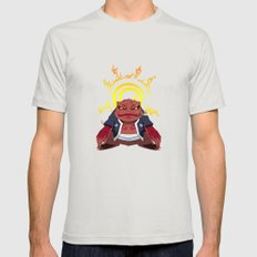 GAMABUNTA Mens Fitted Tee Silver SMALL