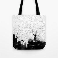NYC Splatterscape Tote Bag
