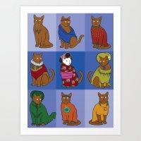 The Nine Lives Of Felis … Art Print