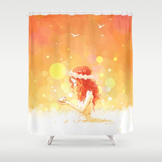 August Shower Curtain