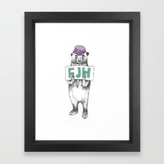 FJH-bear sign Framed Art Print