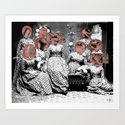 Women´s meating Collage Art Print