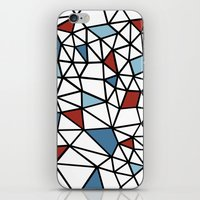 Segment Red and Blue iPhone & iPod Skin