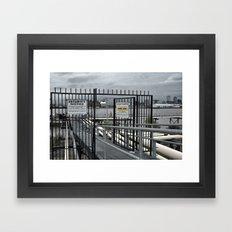 The Open Security Gate Framed Art Print