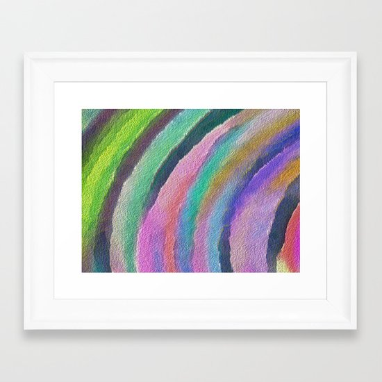 Color Arc Framed Art Print