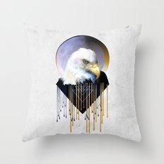 Wise Eagle Throw Pillow