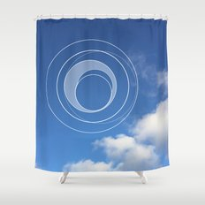 Sky Bubble Shower Curtain