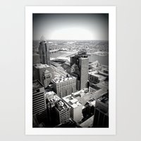 Cincinnati - Downtown #3 Art Print