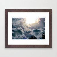 Out and Into the Blue Framed Art Print