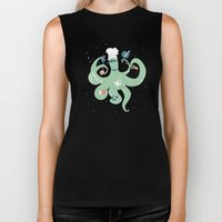 The Octopus Chef Biker Tank