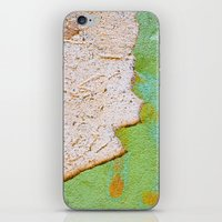Green wall :: White wall iPhone & iPod Skin