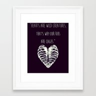 Hearts Are Wild Creature… Framed Art Print