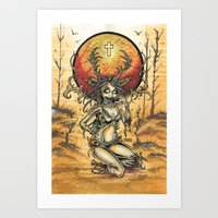 Zombie Jagger Girl Art Print