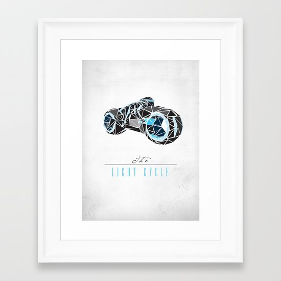 The Light Cycle Framed Art Print
