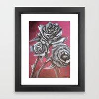 Cloaked in Crimson Framed Art Print
