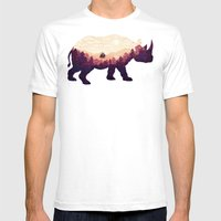 Rhinoscape Mens Fitted Tee White SMALL