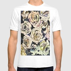 Paper Roses White Mens Fitted Tee SMALL