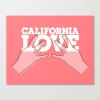 Calfornia Love. Canvas Print