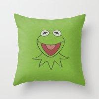 Kermit - Minimalist Post… Throw Pillow