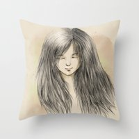 hair dreams Throw Pillow