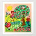 Gerry's apples Art Print