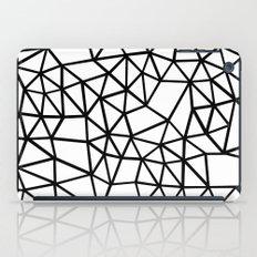 Segment Dense Black on White iPad Case