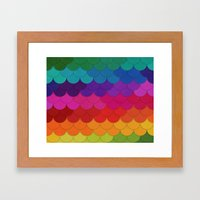 Rainbow Scallops Framed Art Print