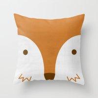 Mr Fleecy Fox Throw Pillow