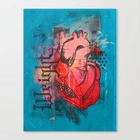 Heavy Heart Canvas Print