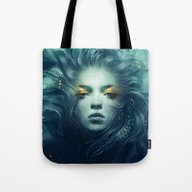 Tote Bag featuring Ink by Anna Dittmann
