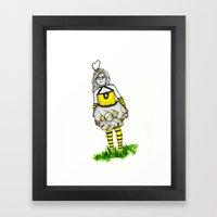 The BumbleBee Girl  Framed Art Print