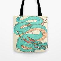 Blue Dragon Tote Bag