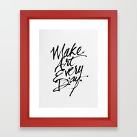 Make Art Every Day Framed Art Print