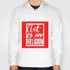 ART IS MY RELIGION-RED Hoody