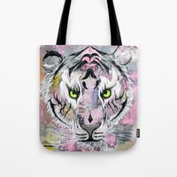 """Tote Bag featuring """"Tiger Tiger"""" by Tom Ryan's Studio"""