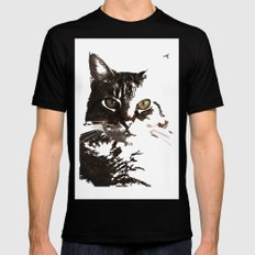 stare Black SMALL Mens Fitted Tee