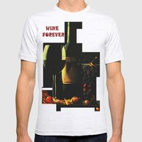 Still Life With Wine Mens Fitted Tee Ash Grey SMALL