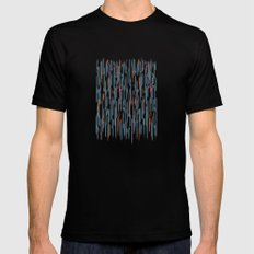 Autumn Lines SMALL Black Mens Fitted Tee