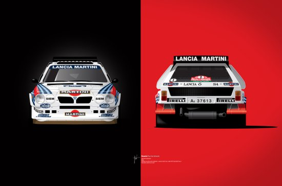 Group B Edition, N.º2, Lancia Delta S4 Canvas Print